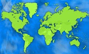 wereldkaart met Nederland als stip uitjebewust